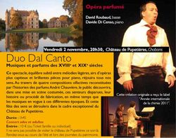 Ticket culture : Duo Dal canto, SPECTACLE COMPLET