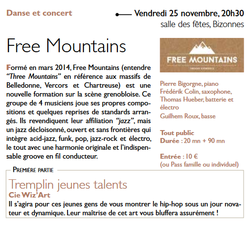 Ticket culture : concert/Free Mountains
