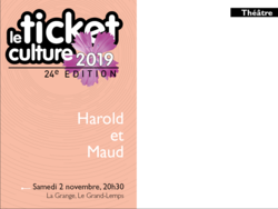 Ticket culture 2019 - Harold et Maude