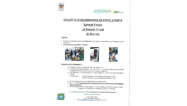 COLLECTE D'ENCOMBRANTS EN PORTE A PORTE