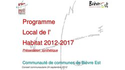 2012 - 2017 Programme Local de l'Habitat (PLH)